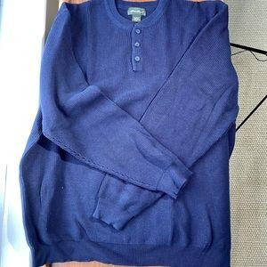 Eddie Bauer knit l/s Henley size XXL